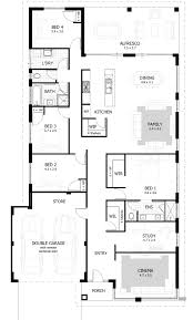 Three Bedroom House Plans 45 4 Bedroom 2 Living Room House Plans Planta Baixa Um Desenho