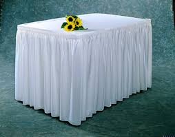 make your own buffet table mrshomemaker make your own table skirt sewing ideas and tips