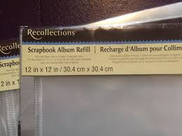 recollections photo album refills recollections scrapbook album refill pages arts crafts in