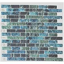 amazon com cocotik peel and stick tile blue 3d kitchen backsplash