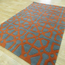 Harlequin Rug Harlequin Rugs In Design Ha14 5a Grey U0026 Orange The Rug Retailer