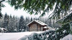 Winter Houses by Houses Lovely Log Home Winter House Forest Logs Photo Gallery For