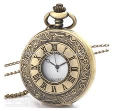 quartz necklace watch images Pocket watch bronze antique mens men 39 s ladies women 39 s unisex jpg