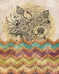 Tapestry Meaning In Tamil Boho by Boho Chic Bohemian Art Boho Poster Chevron Tribal Aztec Pattern