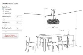 Dining Room Chandelier Size Dining Room Chandelier Height The Correct Height To Hang Amazing