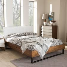leather upholstered headboards baxton studio mitchell white faux leather upholstered king