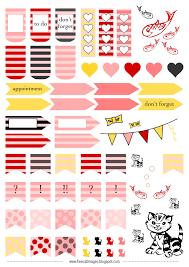 free printable planner stickers butterfly ausdruckbare summer cherry pattern floral planner stickers
