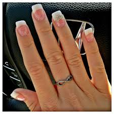 new nails by nikki pink and white with diamond bow yelp