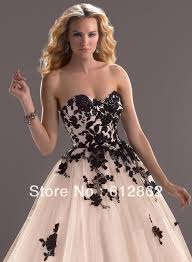 aliexpress com buy strapless sweetheart neckline ball gown black