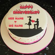 wedding wishes on cake happy 1st wedding anniversary cake with your name