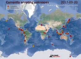 Italy Earthquake Map Volcanic Activity Worldwide 20 Sep 2017 Dukono Volcano Agung