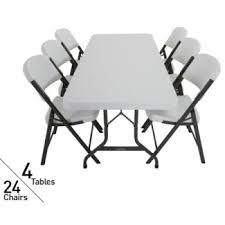 lifetime 4 pack 6 u0027 tables u0026 24 chairs on sale fast u0026 free shipping