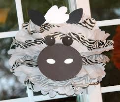 zebra tissue paper zebra pom pom kit king of the jungle safari noahs ark carnival