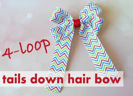 hair bow center four loop tails bow the hairbow center