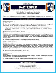 Server Sample Resume by Bartender Resume Sample Choose Bartender Resume No Experience