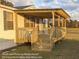 Decorating Ideas For A Mobile Home Tips U0026 Ideas Wooden Wall Siding With Wood Railing And Wood