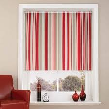Colourful Roller Blind Bathroom Brighton Raspberry Striped Roller Blind Made To Measure From