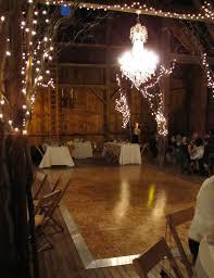 Giant Chandelier Married In A Barn