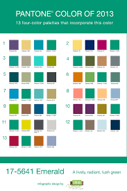 pantone color palettes pantone color of the year emerald color pallets using emerald