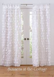 Curtains With Ruffles Brilliant Curtains With Ruffles Ideas With White Ruffle Curtain