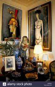 bernard buffet home interior paintings objet d art family