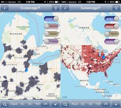 Verizon Coverage Maps Sprint Vs At T Coverage Map Best Cell Phone Coverage In Maryland