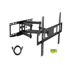 Tv Wall Mount Inland 37 In 80 In Lcd Led Full Motion Tv Wall Mount Combo