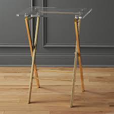 fold away tray table novo acrylic folding table reviews cb2