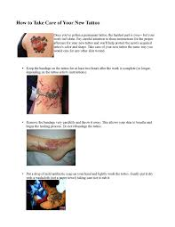 calaméo how to take care of your new tattoo tattoo care