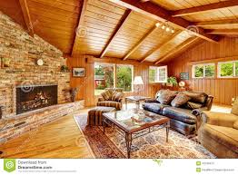 Luxury Log Home Plans Luxury Log Cabin House Interior Living Room With Fireplace And