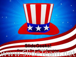 hat with american flag theme nation powerpoint background