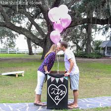 balloons in a box gender reveal our balloon release baby gender reveal it s a the thinking