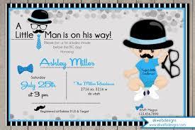 little man baby shower invitations card invitation templates