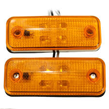 led side marker lights 2pcs 4 led side marker light indicator l bus truck trailer lorry