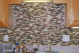 bathroom remarkable kitchen with mocha wooden cabinet and mosaic