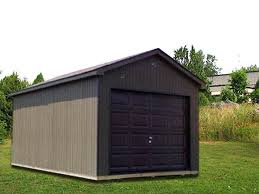 Overhead Shed Doors 10 X 16 X 7 Ranch W Overhead Door R 6 Portable Buildings