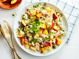 peach and chicken couscous salad chatelaine