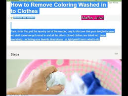 White Shirt Got Other Color With Washing - how to get red out of white clothes youtube