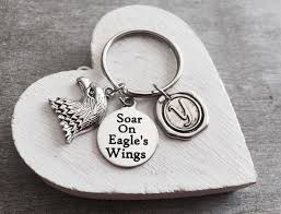 inspirational keychains soar on eagles wings quote inspirational inspire motivational