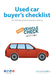 car buying guide used car buyers checklist