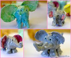 ceramic elephant art project deep space sparkle