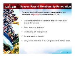 Buy Six Flags Season Pass Six Flags Entertainment Corporation 2017 Q4 Results Earnings