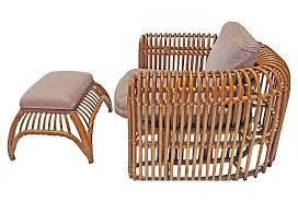 rattan chair with ottoman ela henry link wicker chair ottoman