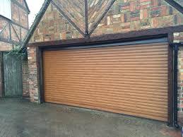 Security Garage Door by Double Golden Oak Roller Garage Door In Haddenham Shutter Spec