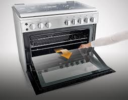 how to clean a self cleaning oven glass door cleaning oven door glass