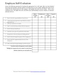 resume evaluation form employee self assessments 2 employee self evaluation examples 2