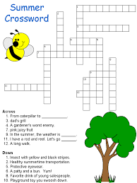 summer crossword from dltk work pinterest crossword summer