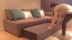 ikea friheten corner sofa bed demo youtube