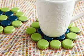 make bottle cap coasters and 9 other bottle cap crafts dollar