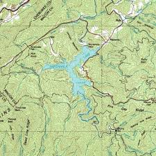 nantahala river map nantahala estate company topton nc topo map of lake nantahala